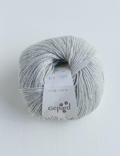 Gepard Garn - Wild & Soft - Light Grey 520